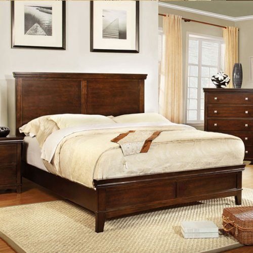 Simple and Elegant Bed With Good Feng Shui Features Like Solid Headboard,Lower Footboard, No Sharp Edges. Click To Preview